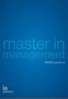 IE Master in Management Brochure