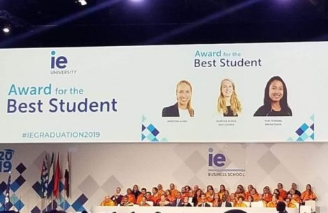 Award for the Best Student - IE Graduation 2019 | IE Business School