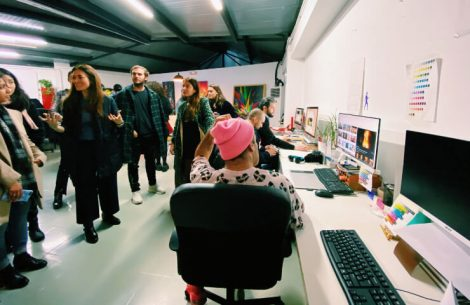 IE Students, artist and the Production Team Ink and Movement   IE Business School