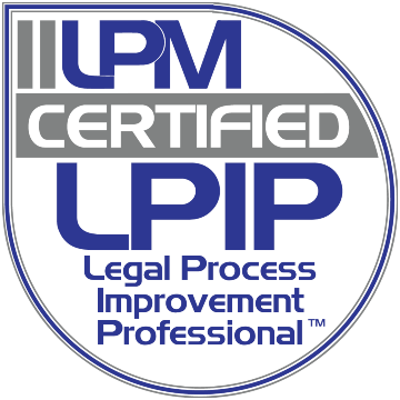 Logo International Institute of Legal Project Management certified Legal Process Improvement Professional