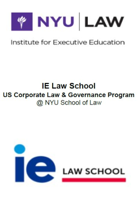 Schedule - US Corporate Law & Governance Program | IE Exponential Learning
