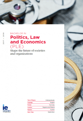 Politics, Law and Economic Brochure | IE Law School