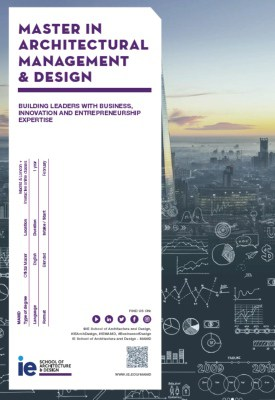 Brochure Master in Architectural Management and Design. IE School of Architecture and Design
