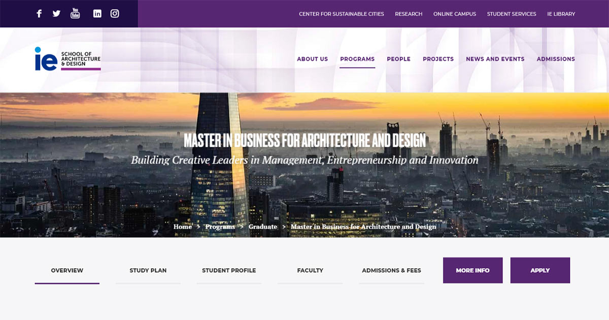 Master In Business For Architecture And Design Ie