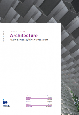 Brochure Bachelor in Architecture