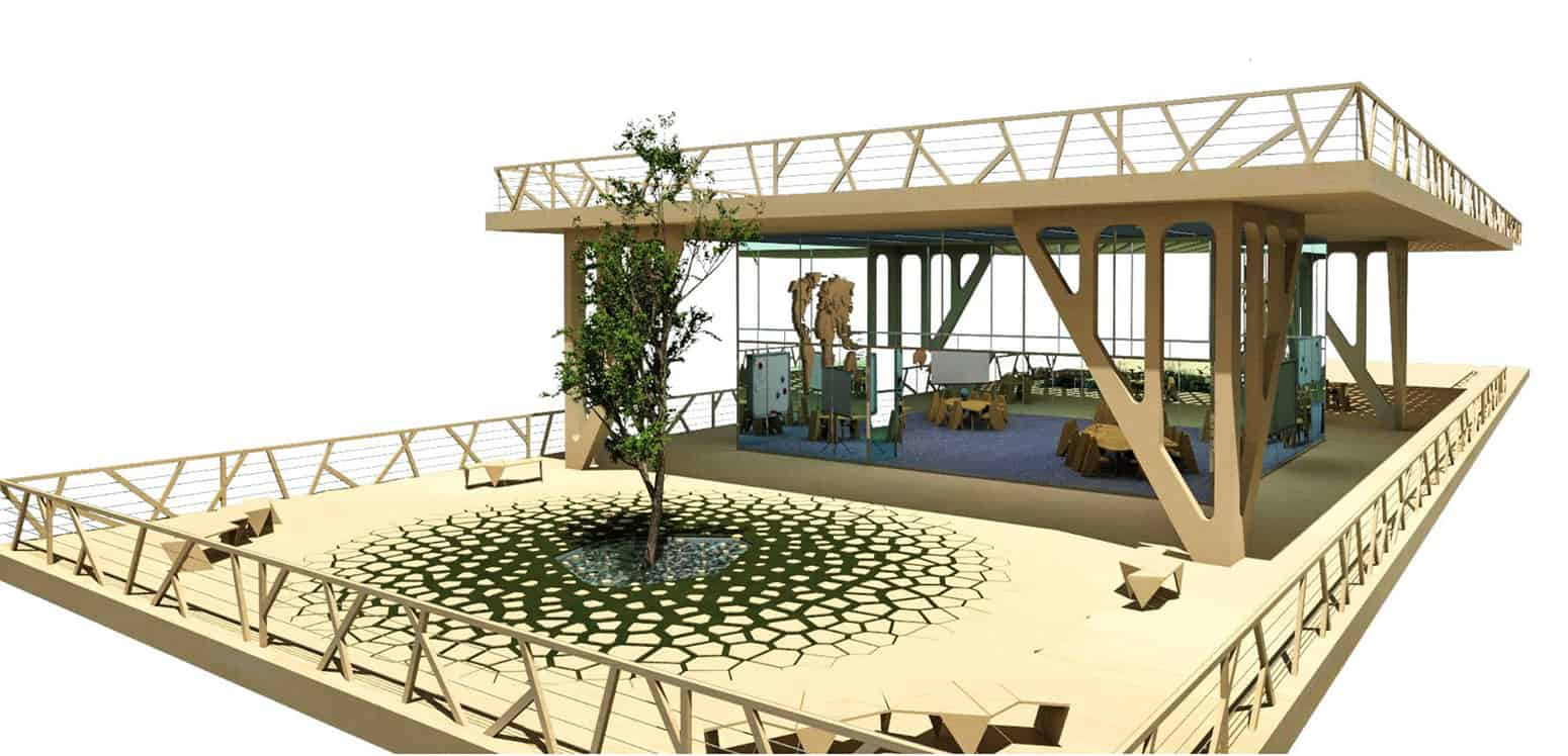 Process Render - The Hub - Student Projects | IE School of Architecture and Design