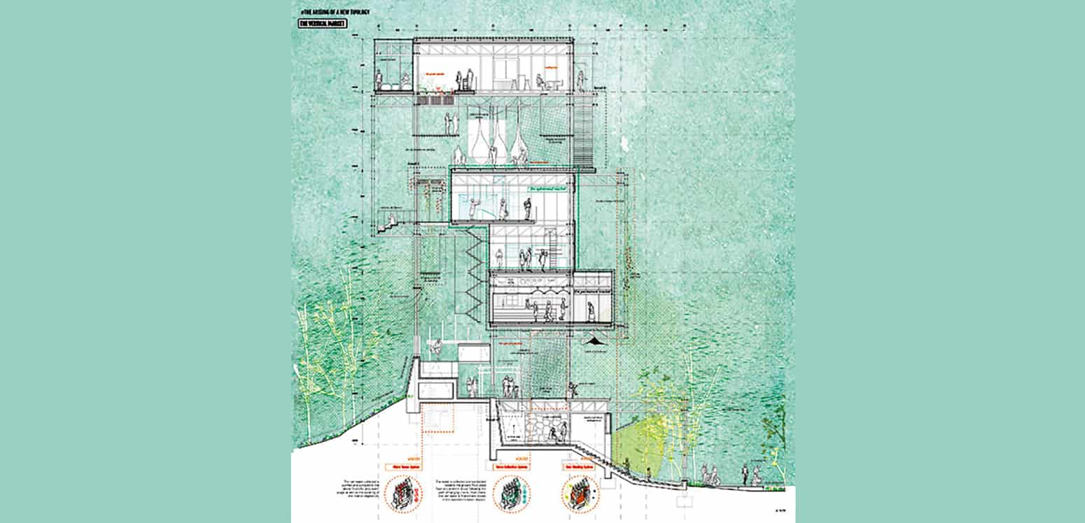 Section - S'Arenal Market Strip - Student Projects | IE School of Architecture and Design