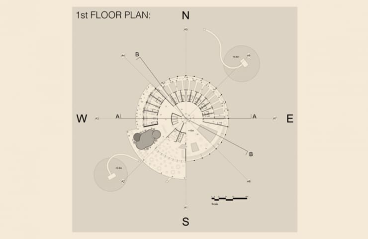 1st Floor plan - Kiaoliang Shuilian - Student Porjects | IE School of Architecture and Design