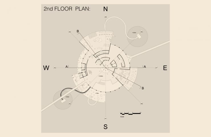 2nd Floor plan - Kiaoliang Shuilian - Student Porjects | IE School of Architecture and Design