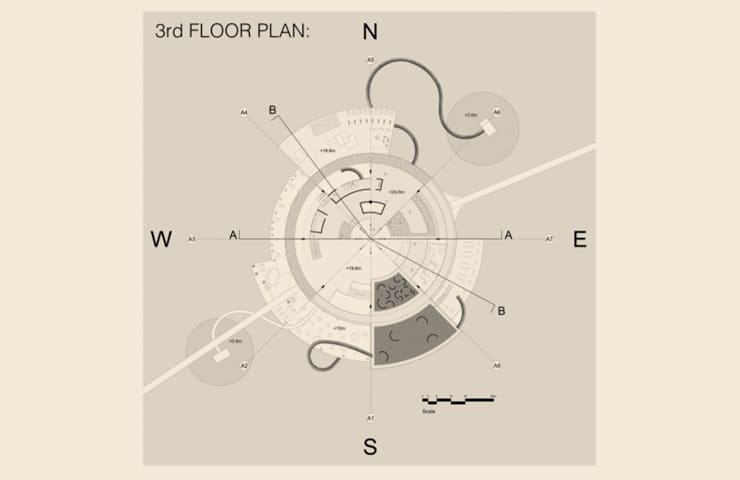 3nd Floor plan - Kiaoliang Shuilian - Student Porjects | IE School of Architecture and Design