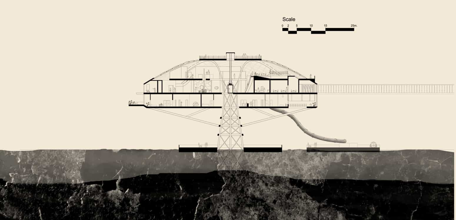 Secctions - Kiaoliang Shuilian - Student Porjects | IE School of Architecture and Design