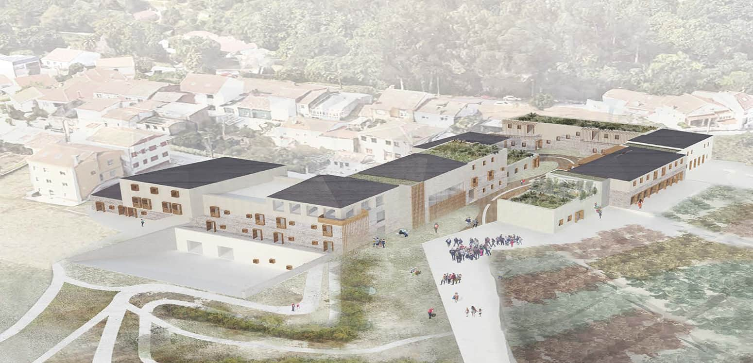 Aerial view - Filoxenia Resort - Student Porjects | IE School of Architecture and Design