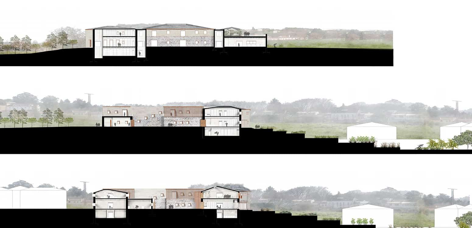 Sections - Filoxenia Resort - Student Porjects | IE School of Architecture and Design