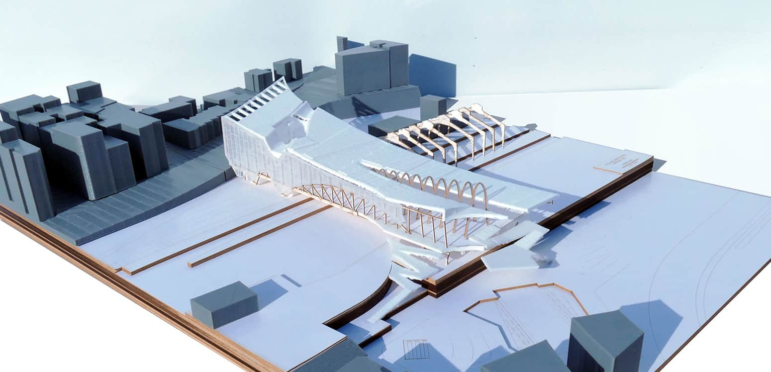 "New Interface Model - New Multipurpose Station ""Interface"" - Student Projects 