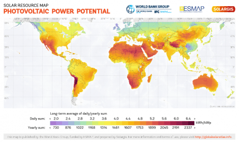 Solar Resource Map. Photovoltaic Power Potential - IE School of Global Public Affairs
