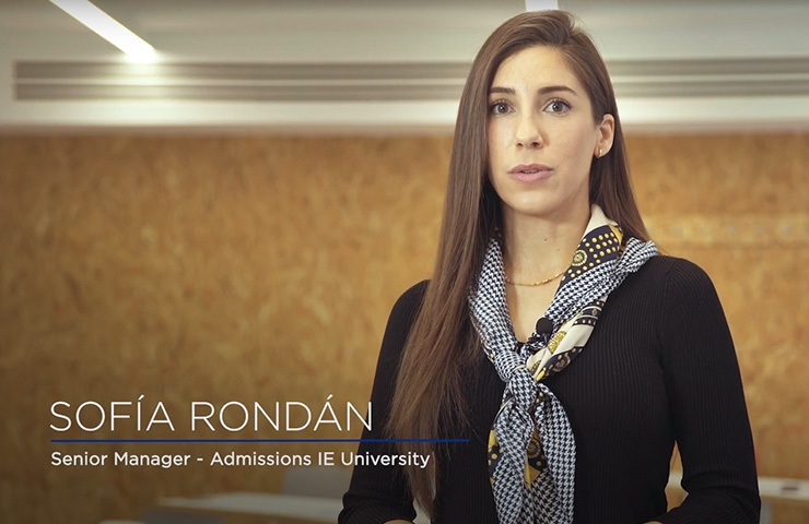 Personal Interview with Sofía Rondán (Admissions) | IE University