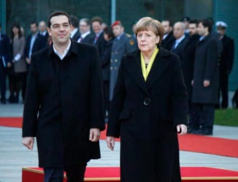 Alexis Tsipras and Angela Merkel: 360b | Shutterstock.com - IE University