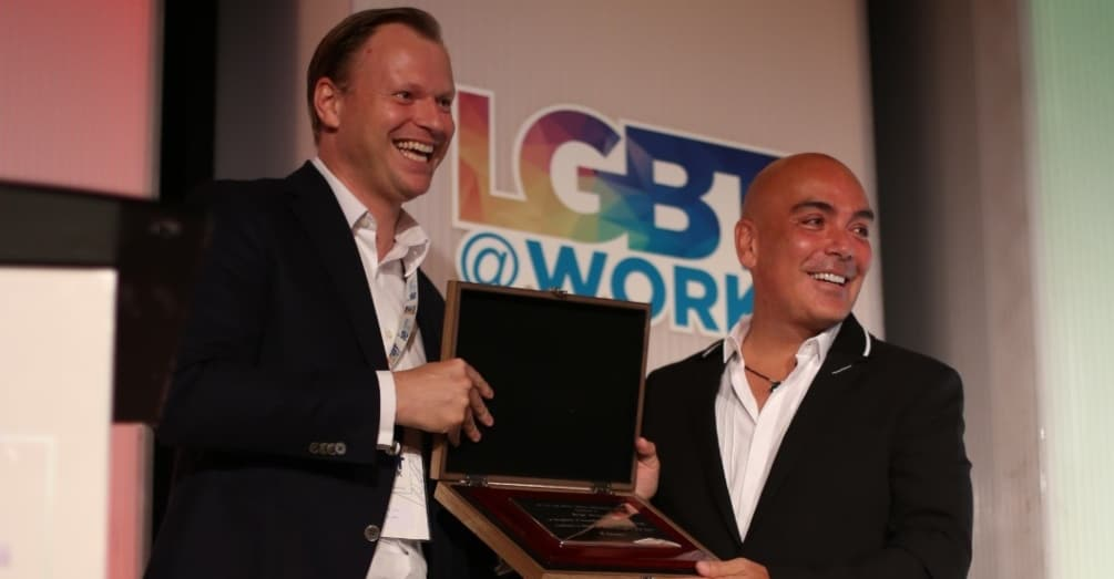 Kike Sarasola, President of Room Mate Group, receives Lifetime Achievement Award at IE University's LGBT@Work Conference